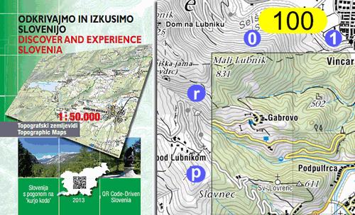 Naslovnica in primer zemljevida